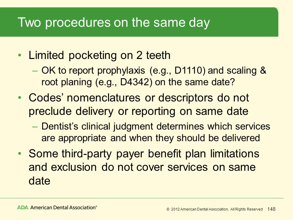 Two procedures on the same day