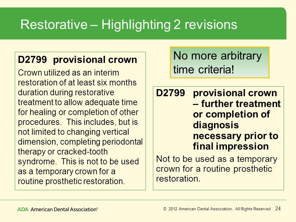 Restorative – Highlighting 2 revisions
