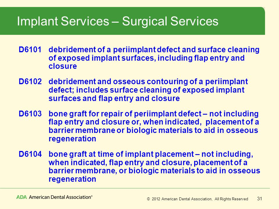 Implant Services – Surgical Services
