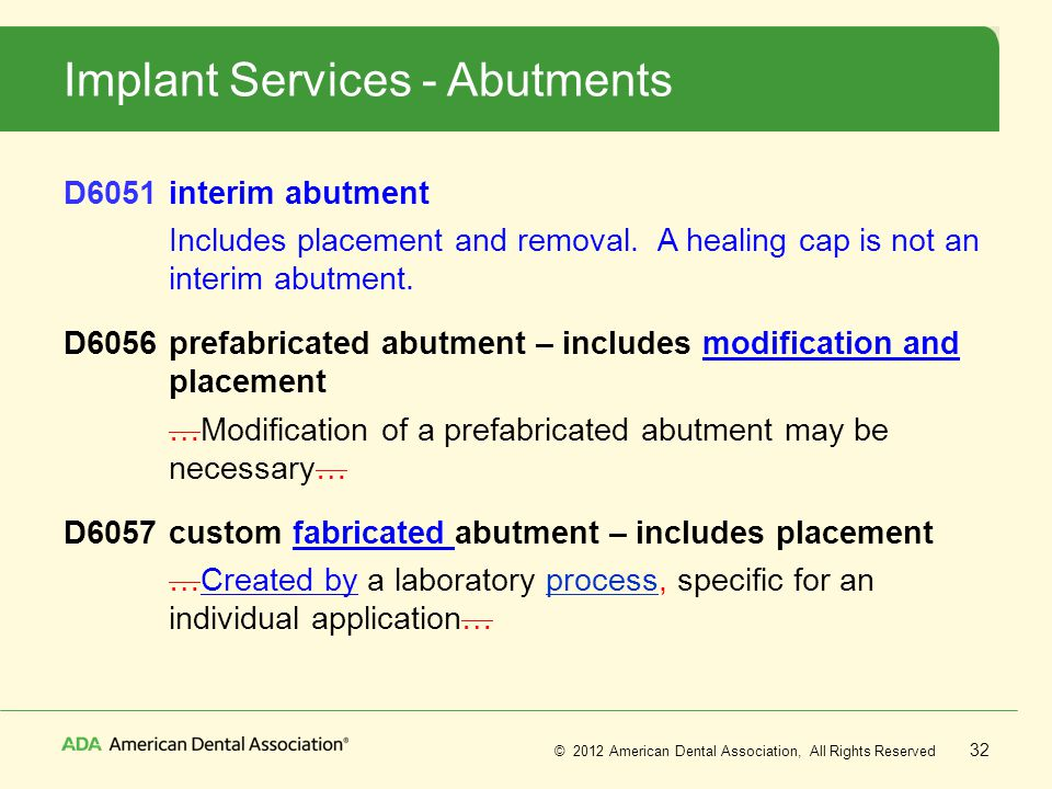 Implant Services - Abutments