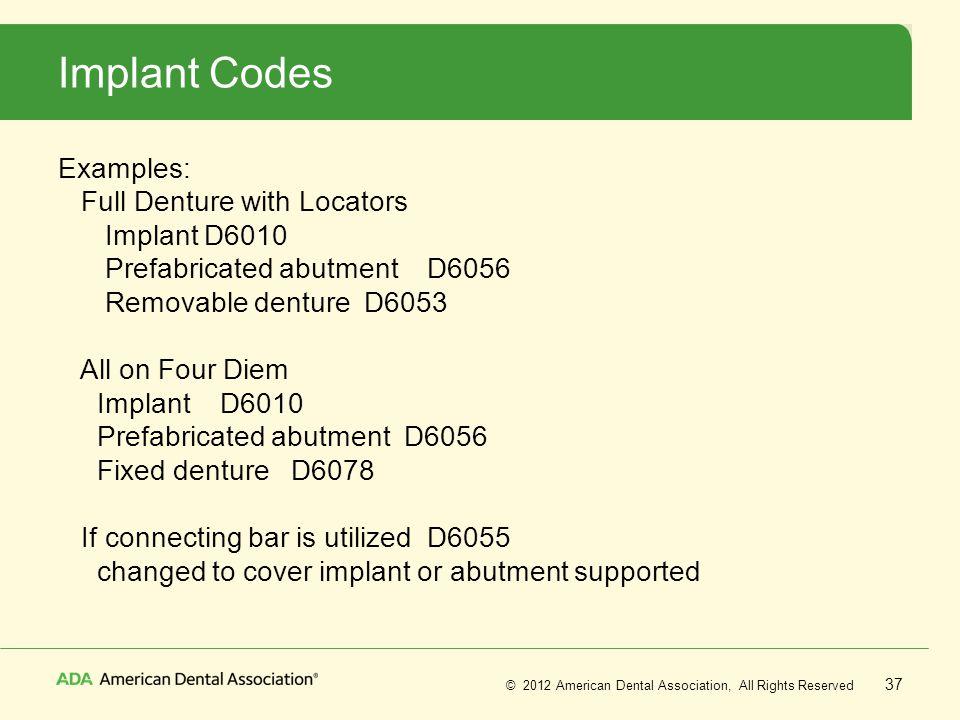 Implant Codes