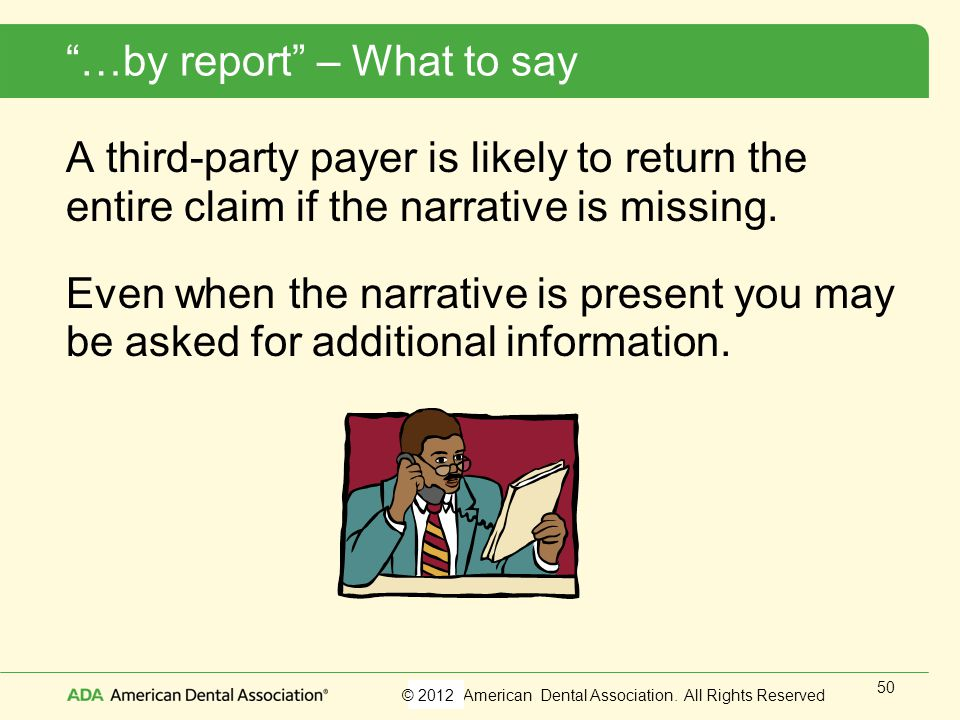 …by report – What to say