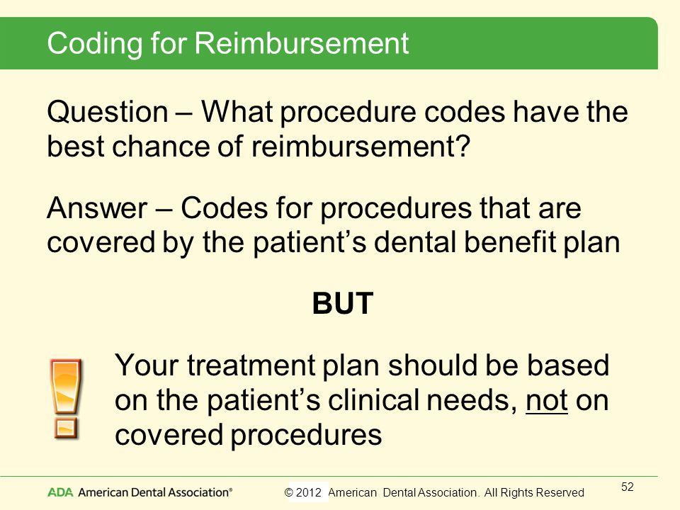 Coding for Reimbursement