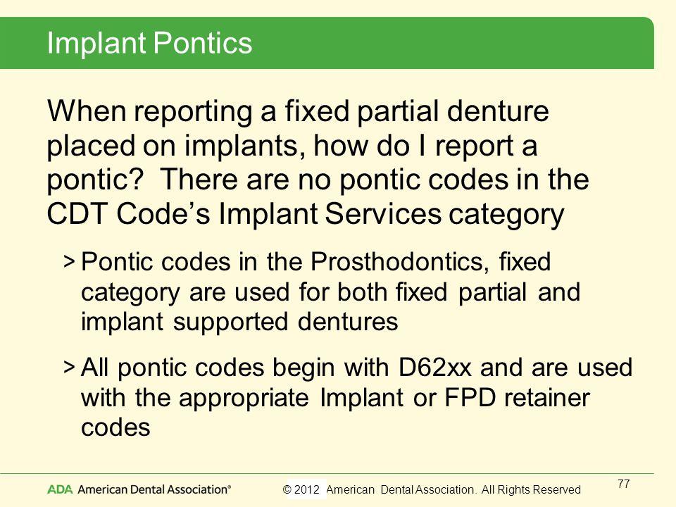 Implant Pontics