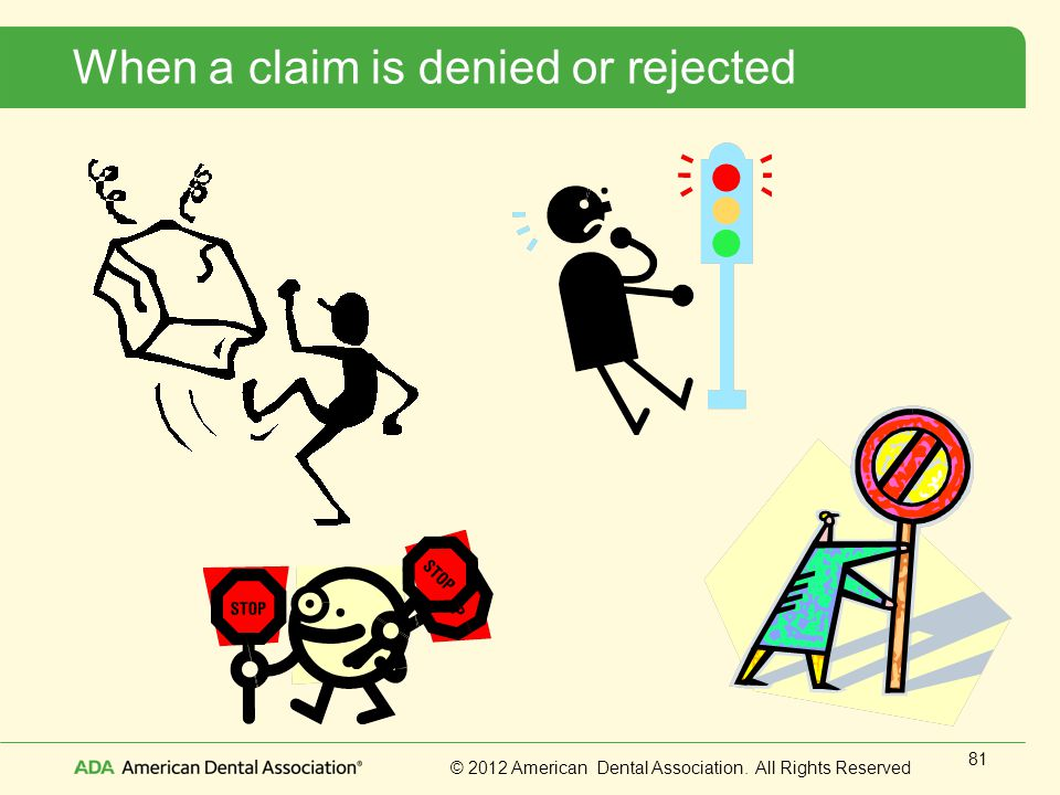 When a claim is denied or rejected