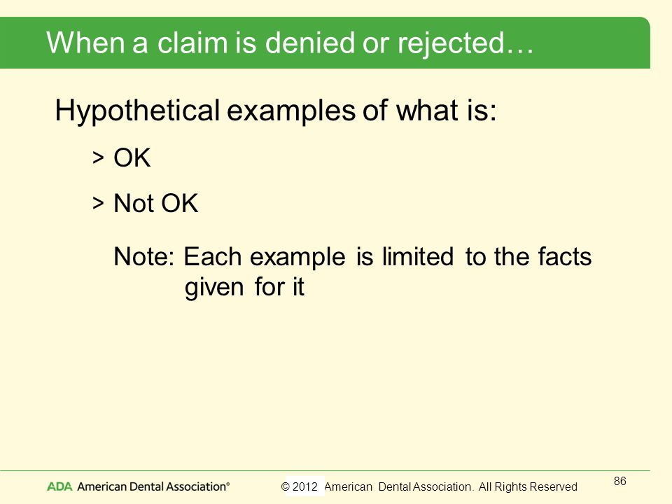 When a claim is denied or rejected…