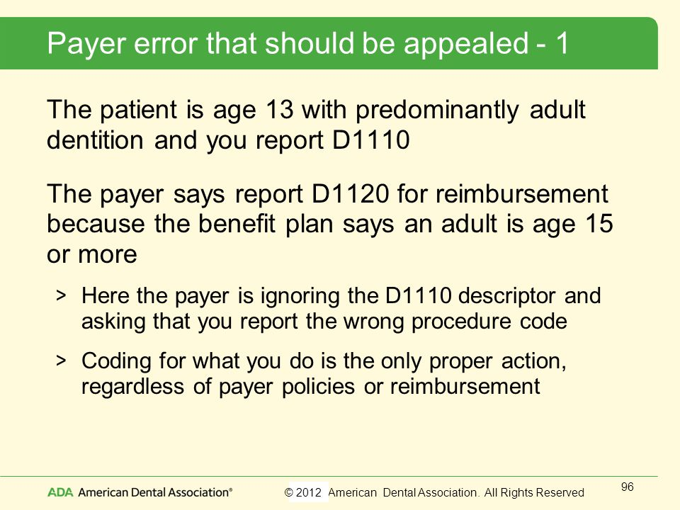 Payer error that should be appealed - 1