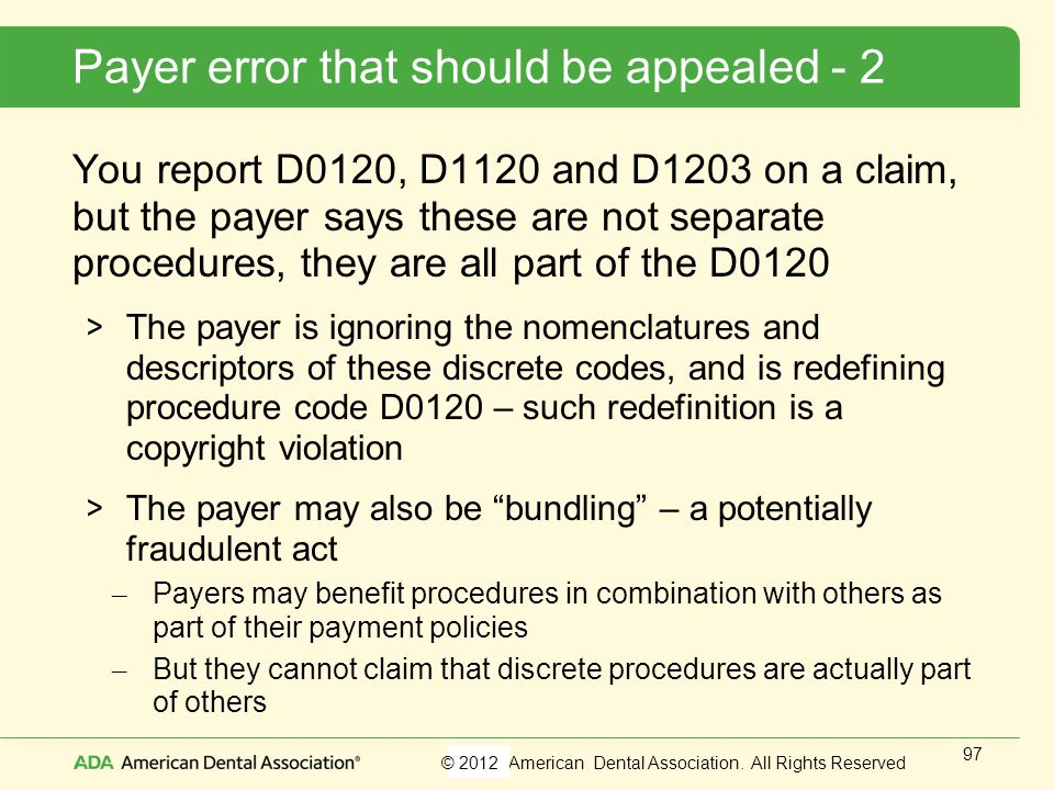 Payer error that should be appealed - 2