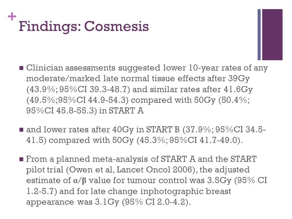 Findings: Cosmesis