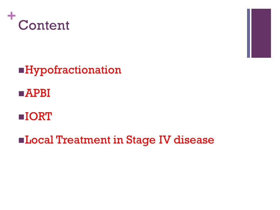 Content Hypofractionation APBI IORT