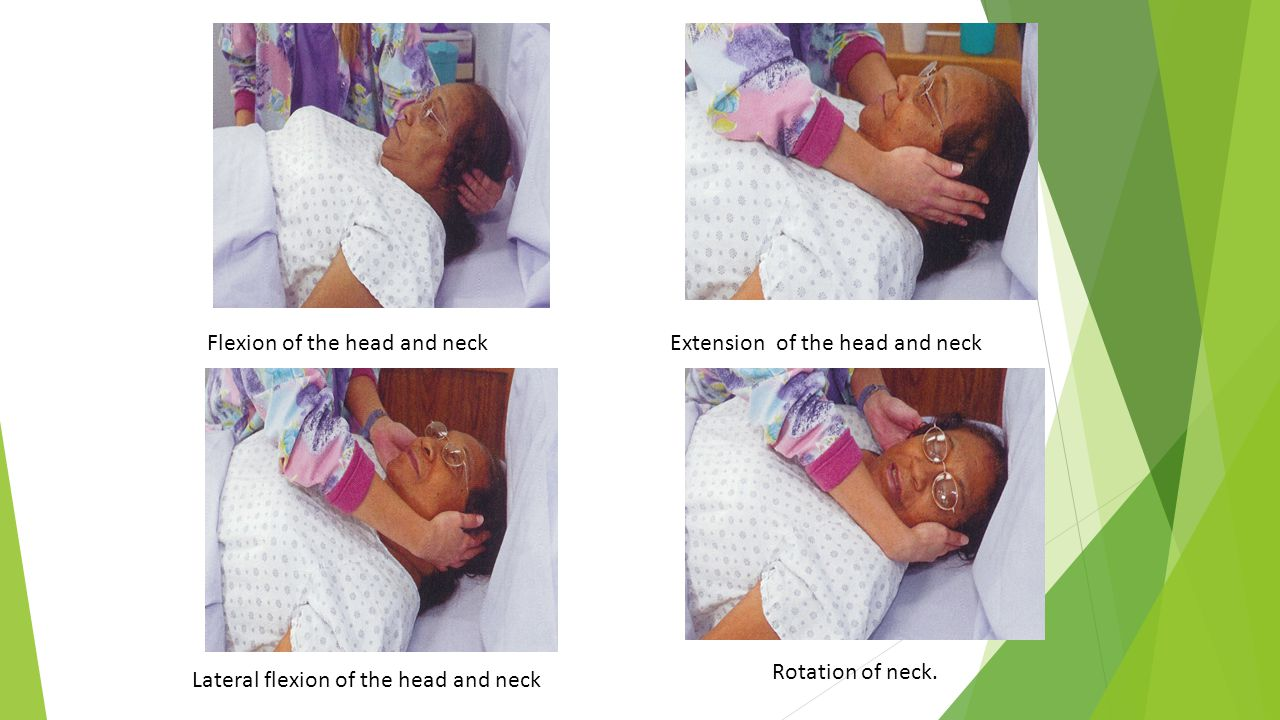 Flexion of the head and neck