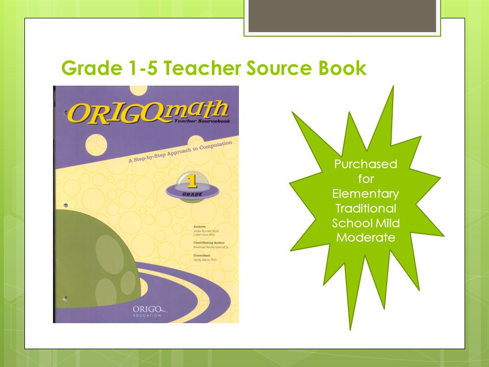 Grade 1-5 Teacher Source Book