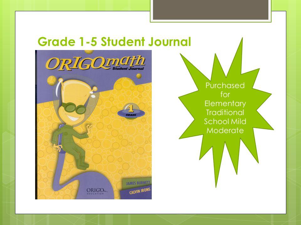 Grade 1-5 Student Journal