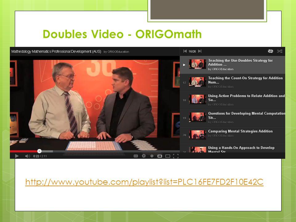 Doubles Video - ORIGOmath