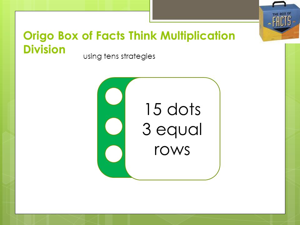 Origo Box of Facts Think Multiplication Division