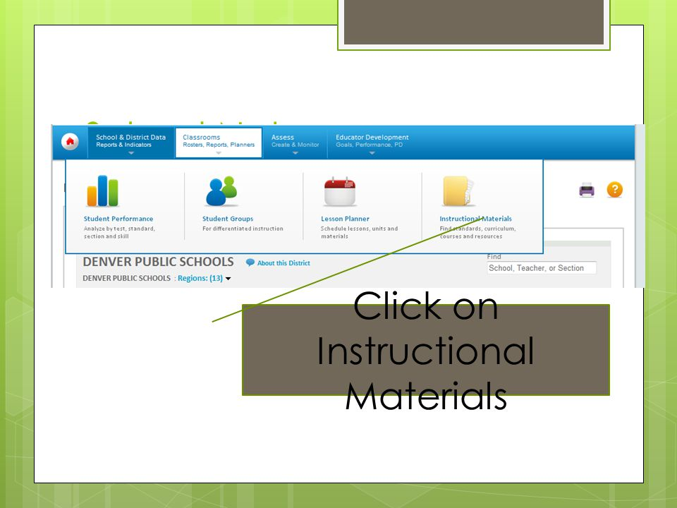Click on Instructional Materials