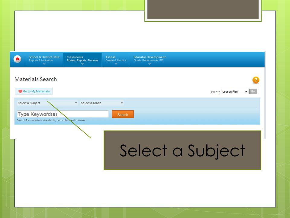 School Net Select a Subject