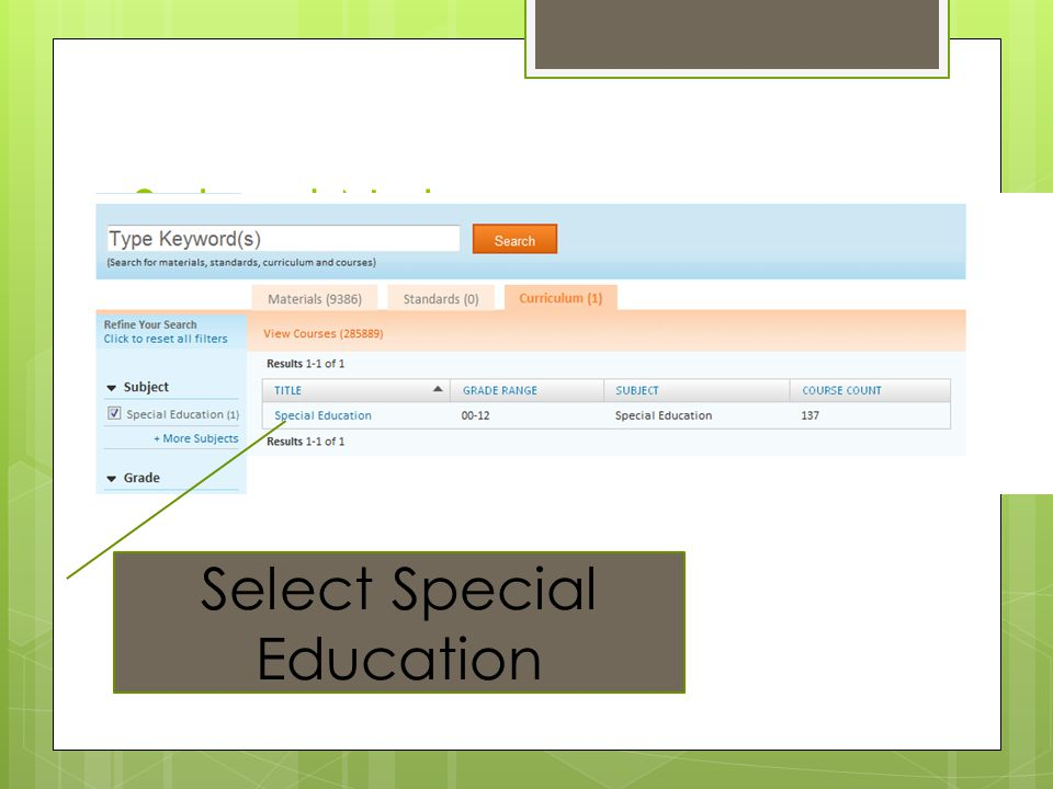 Select Special Education