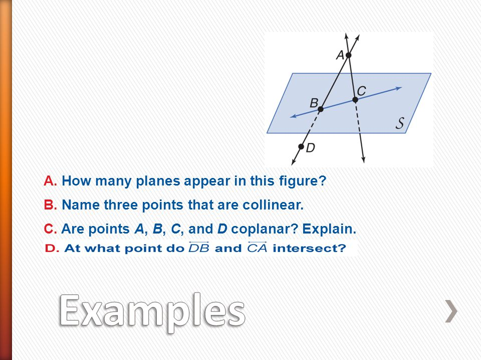 Examples A. How many planes appear in this figure