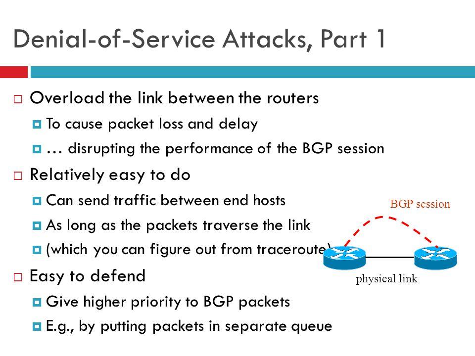 Denial-of-Service Attacks, Part 1