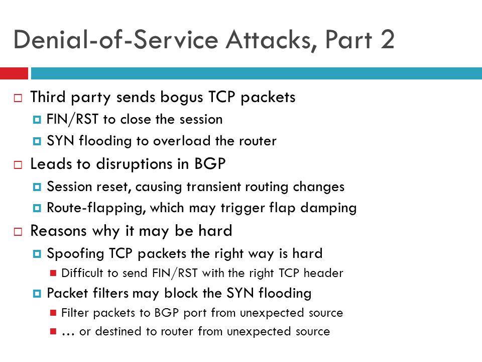 Denial-of-Service Attacks, Part 2