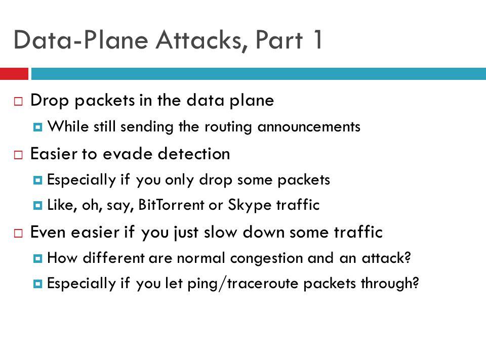 Data-Plane Attacks, Part 1