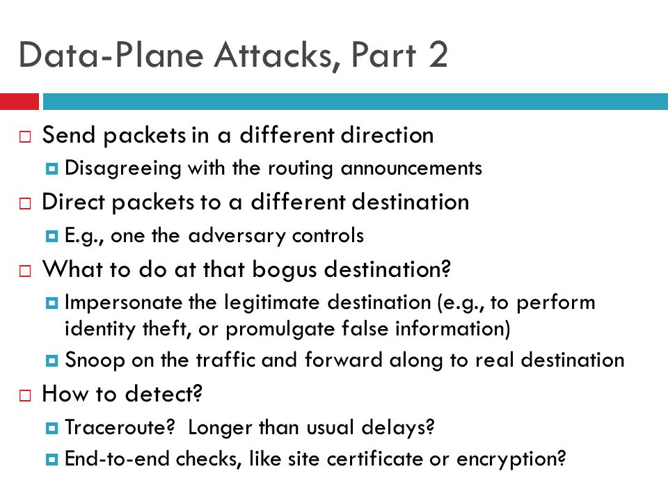 Data-Plane Attacks, Part 2