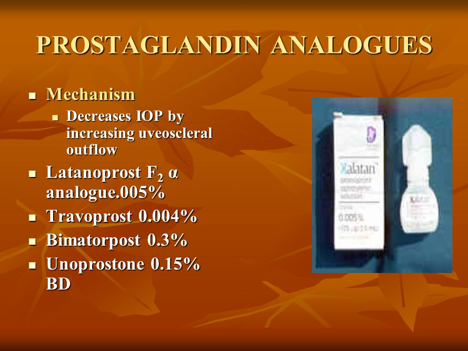 PROSTAGLANDIN ANALOGUES