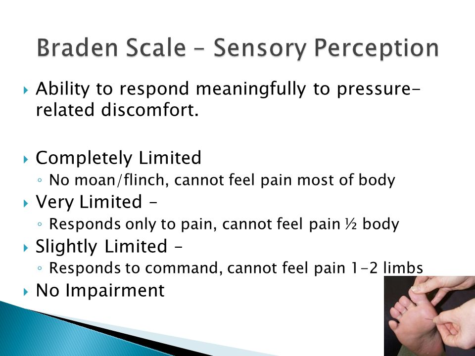 Braden Scale – Sensory Perception