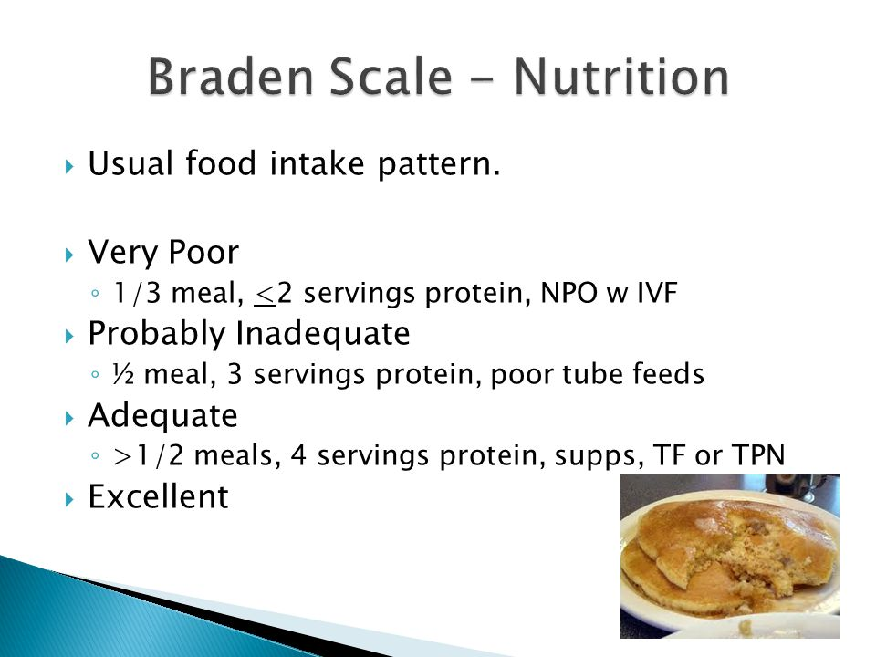 Braden Scale - Nutrition