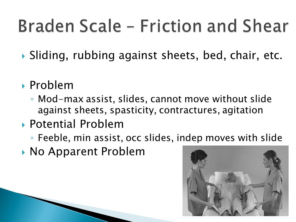Braden Scale – Friction and Shear