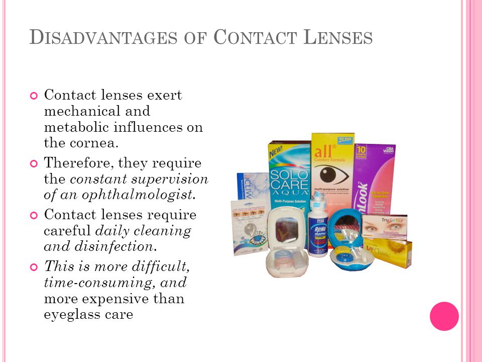 Disadvantages of Contact Lenses