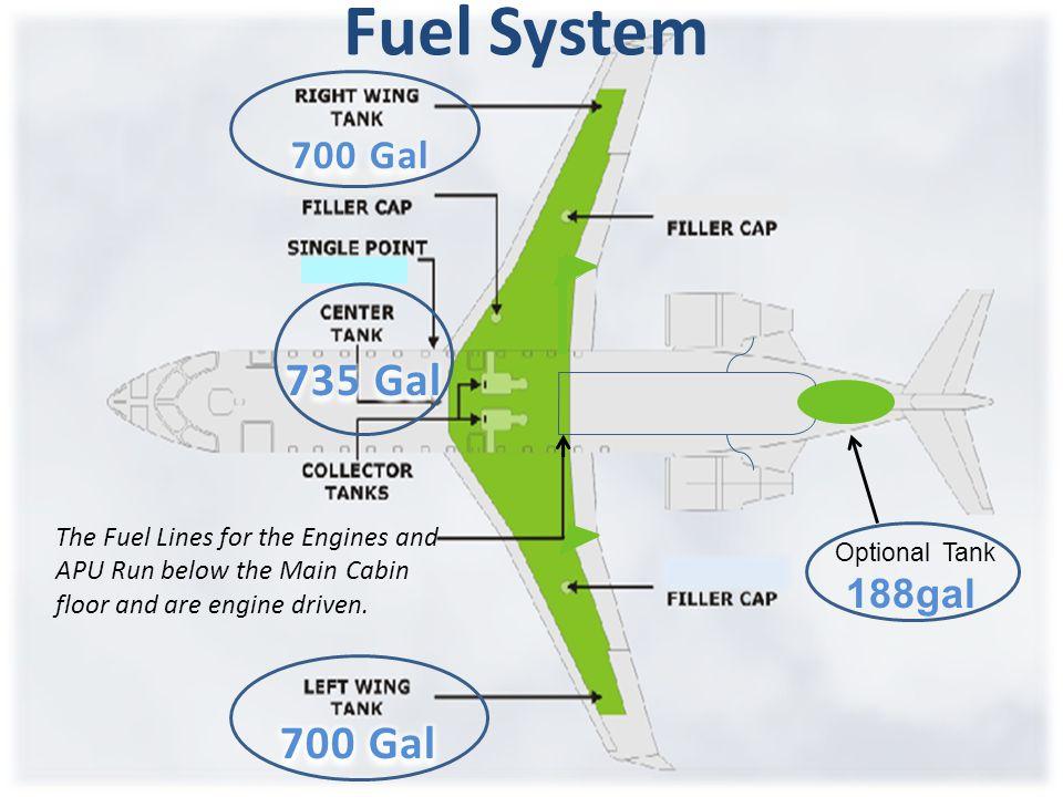 Fuel System 735 Gal 700 Gal 700 Gal 188gal