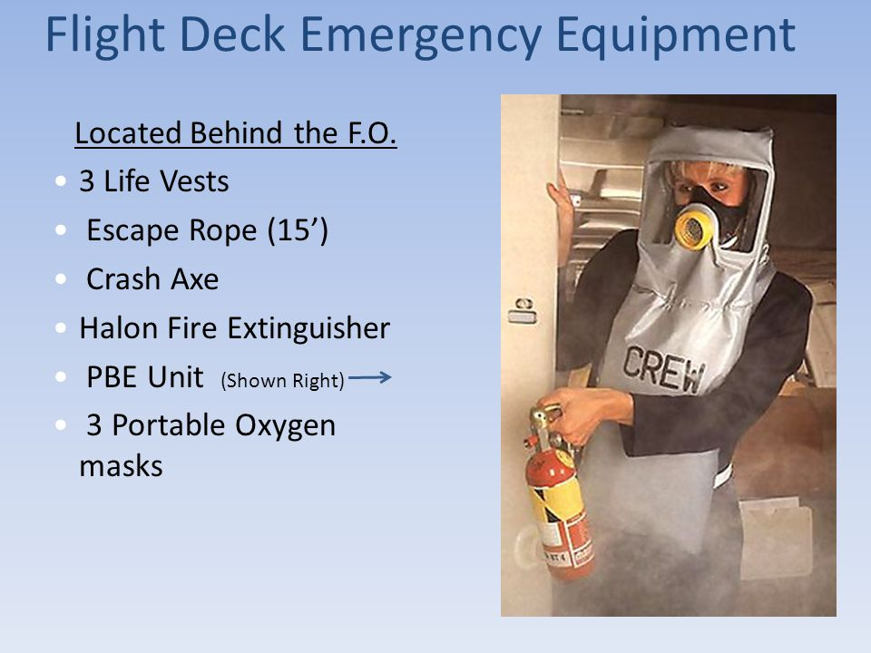 Flight Deck Emergency Equipment