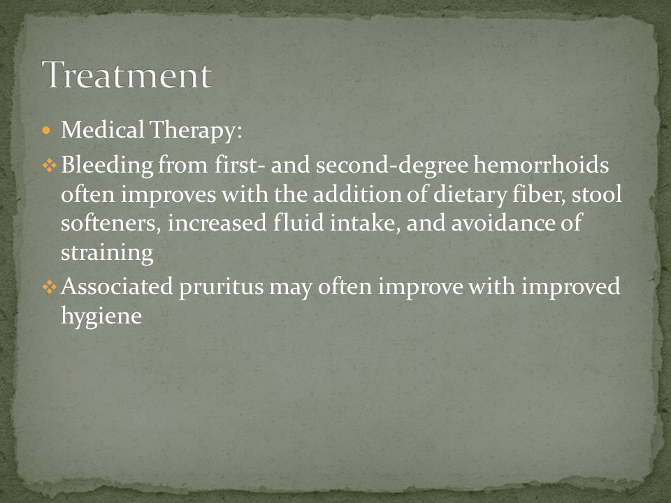 Treatment Medical Therapy: