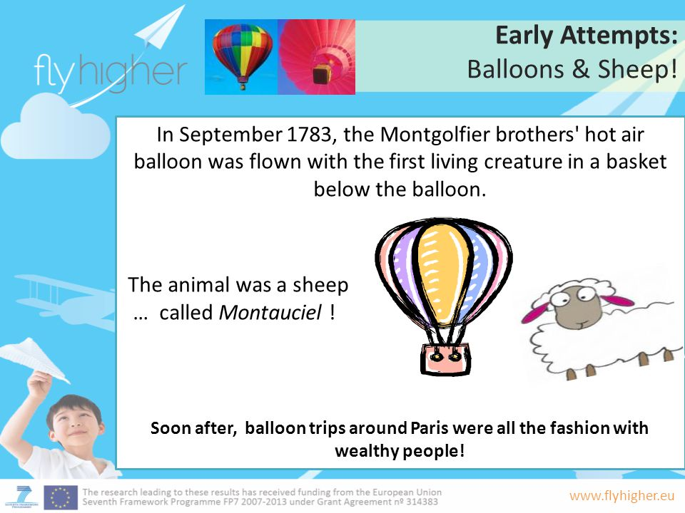 Early Attempts: Balloons & Sheep!
