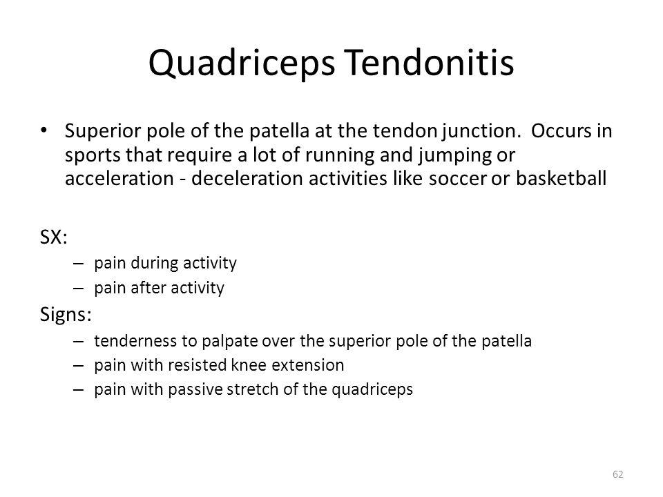 Quadriceps Tendonitis