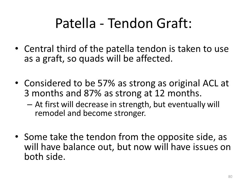 Patella - Tendon Graft: