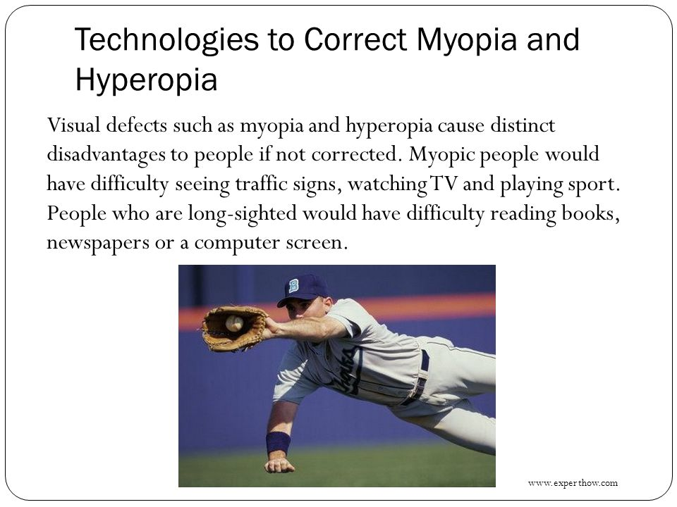 Technologies to Correct Myopia and Hyperopia
