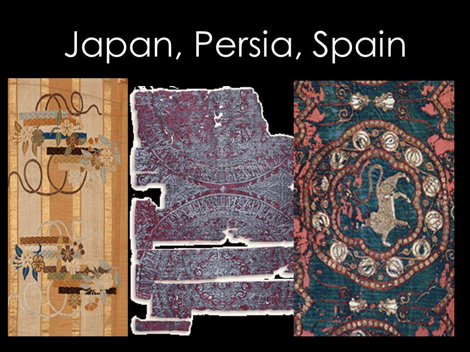 Japan, Persia, Spain
