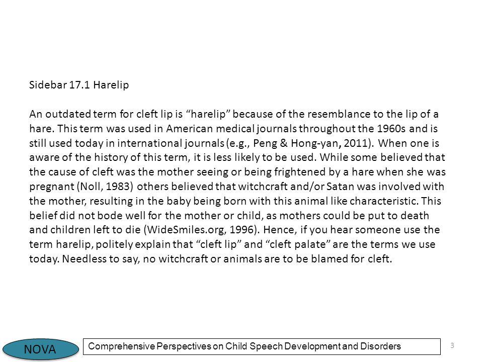 Sidebar 17.1 Harelip
