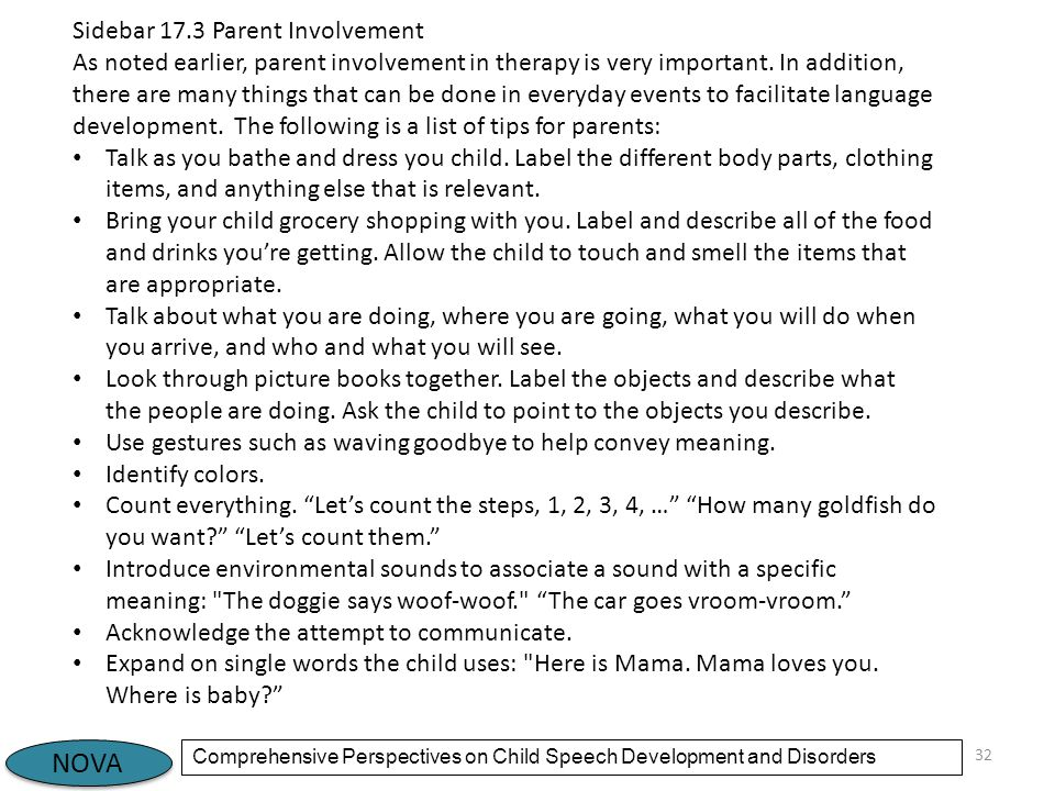 Sidebar 17.3 Parent Involvement