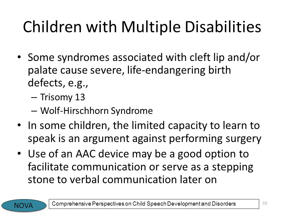 Children with Multiple Disabilities