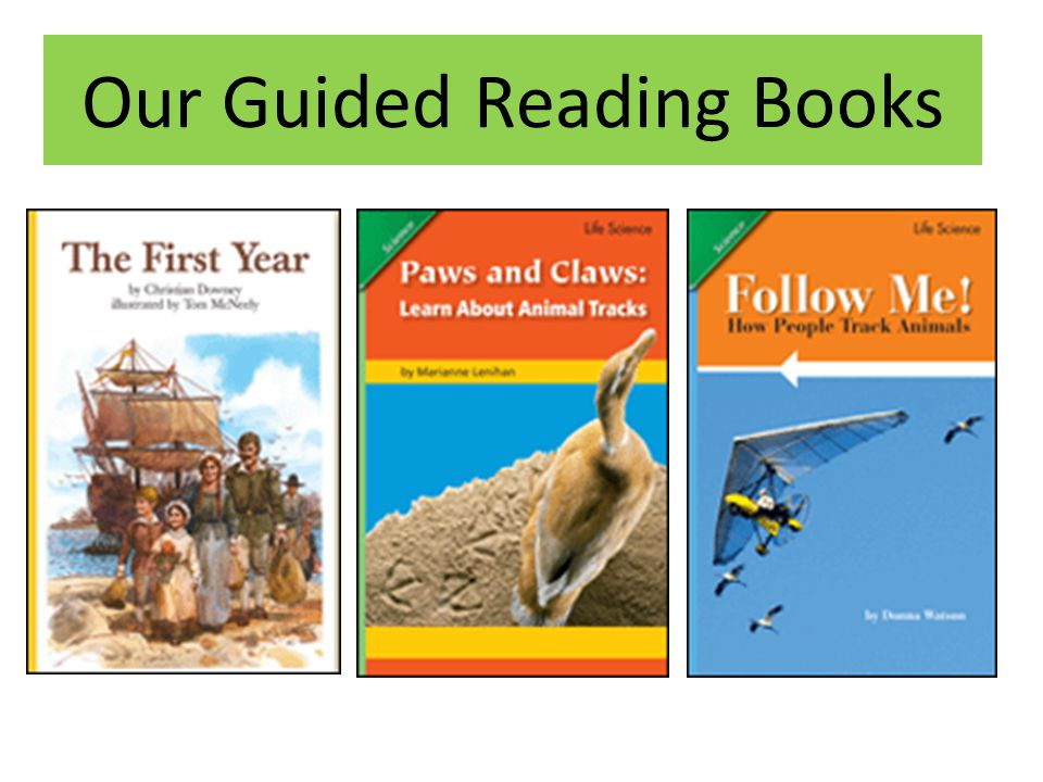 Our Guided Reading Books