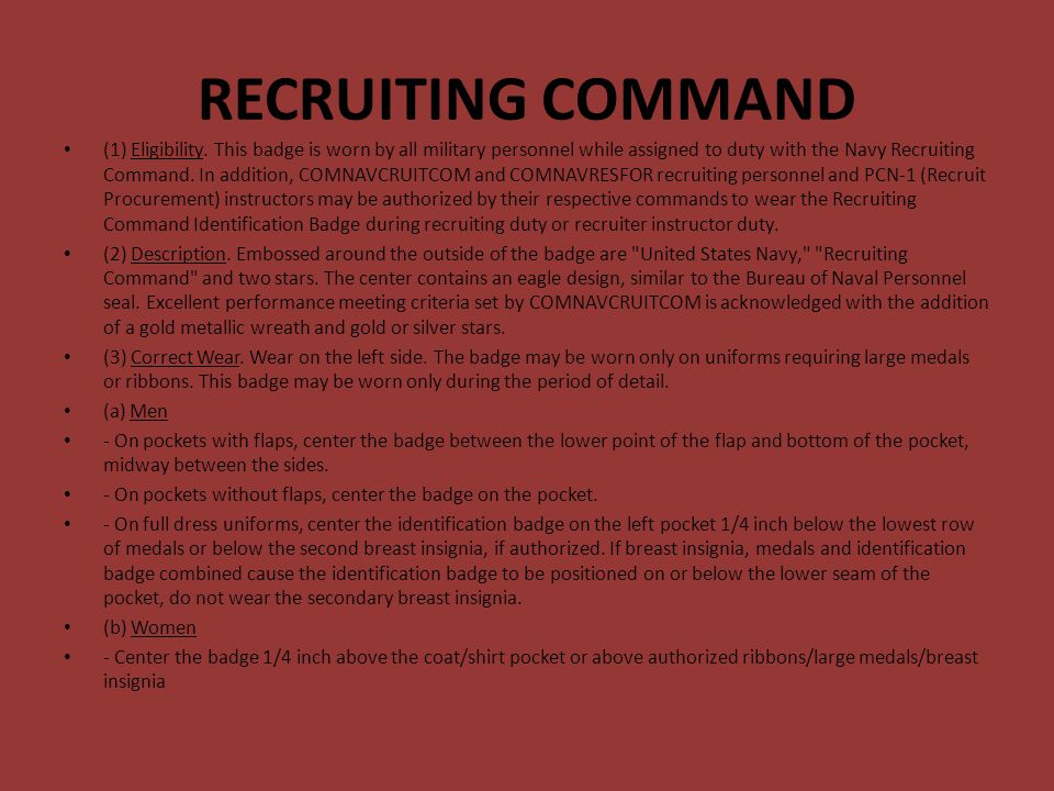 RECRUITING COMMAND