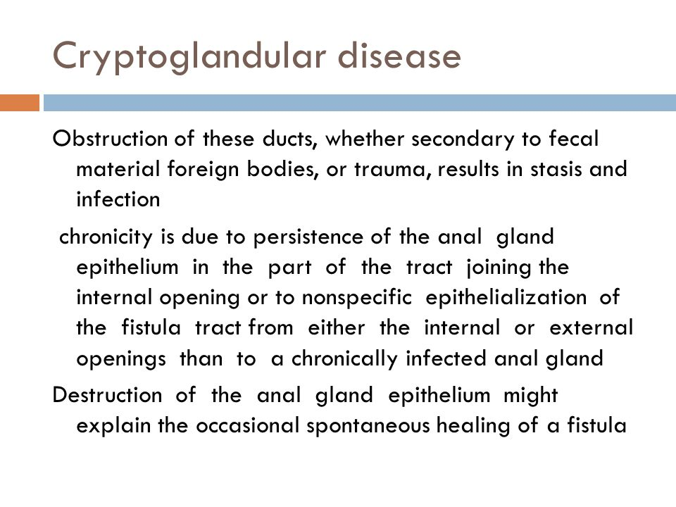 Cryptoglandular disease