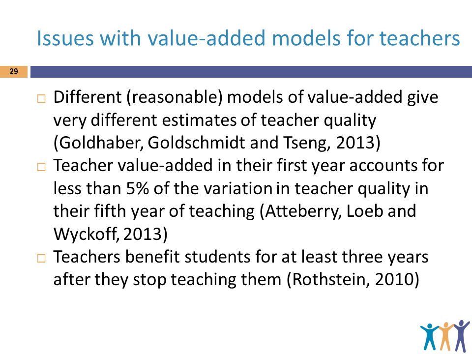 Issues with value-added models for teachers