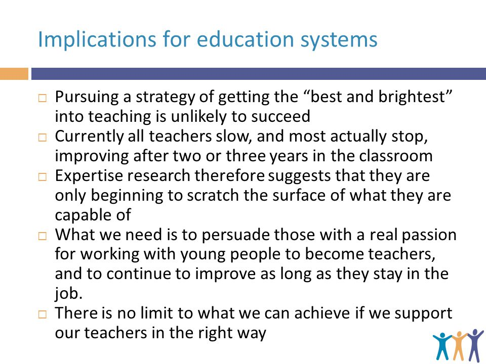 Implications for education systems