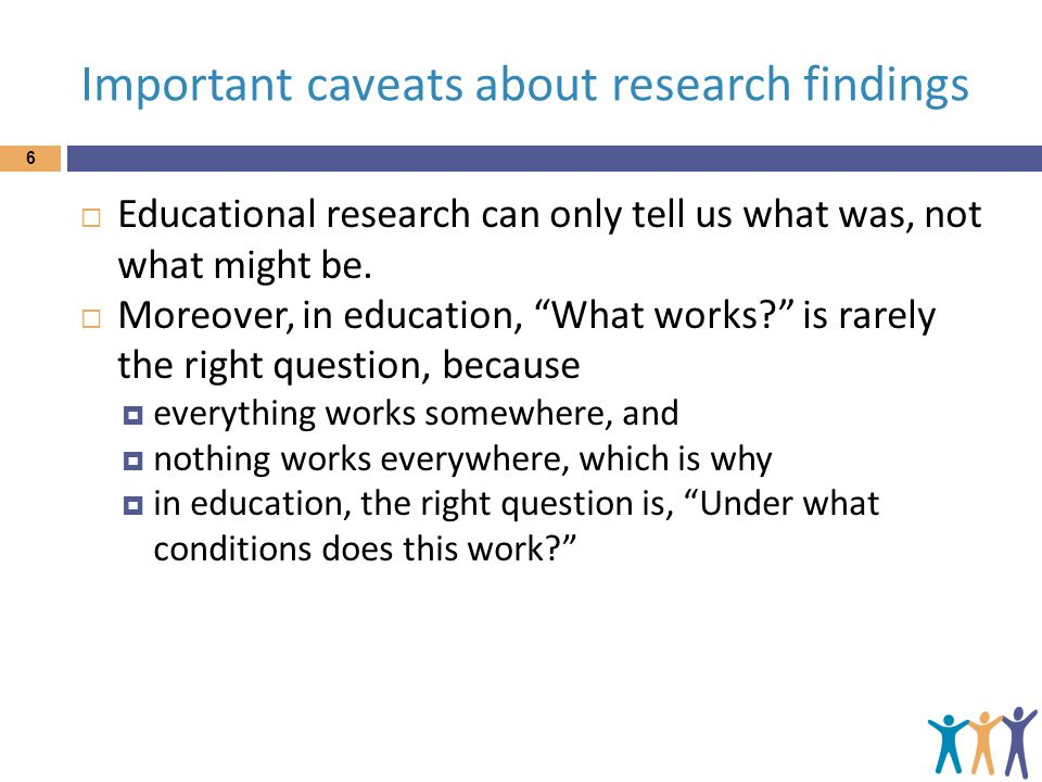 Important caveats about research findings
