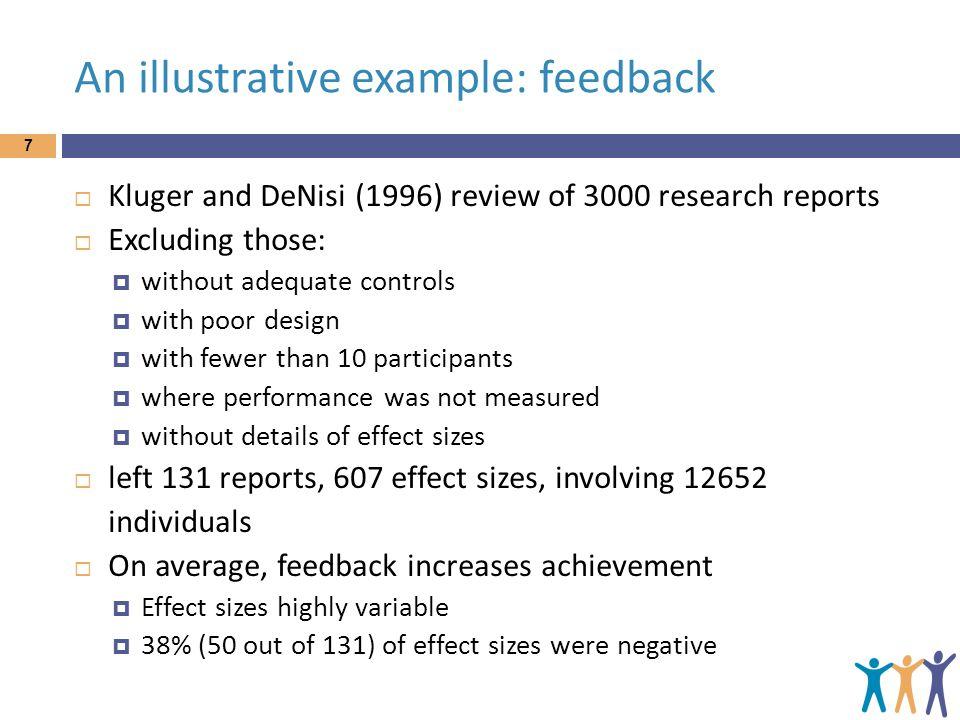 An illustrative example: feedback